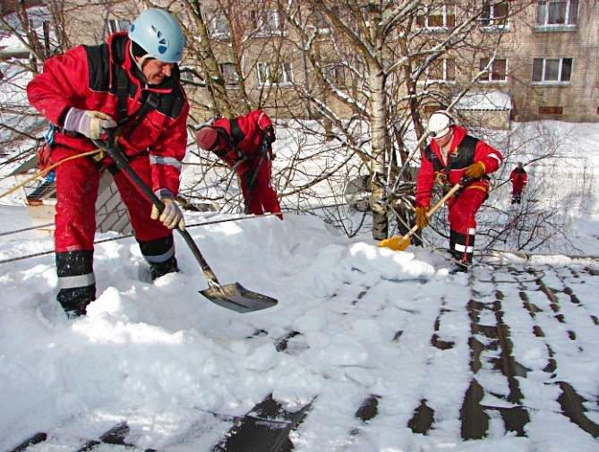 Очистка крыш от снега и наледи киров