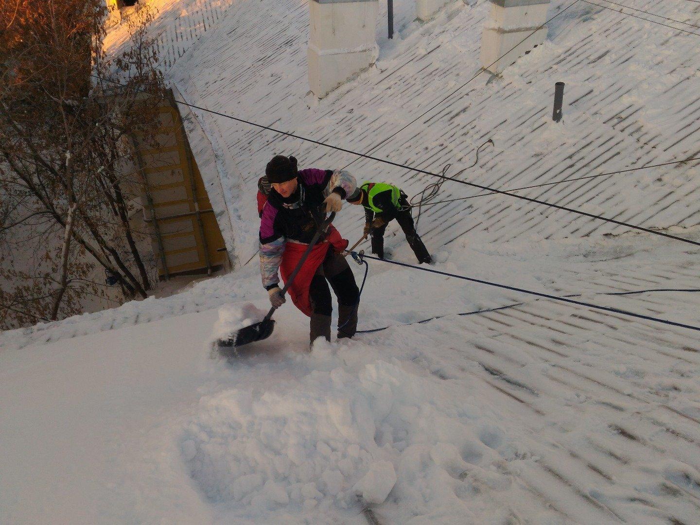 Охрана труда при чистке кровли от снега