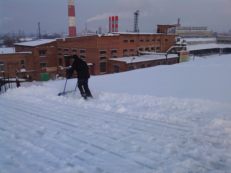 Калькуляция на уборку снега с крыши